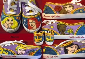 Disney Princesses Shoes by Rosemev