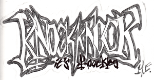 knux inspired graffiti by beansbigtop