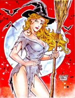 SEXY WITCH by RODEL MARTIN (07182015) by rodelsm21