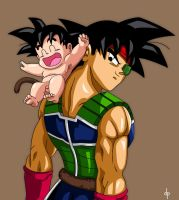 Baby Goku and Bardock by dimitroncio