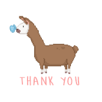 Llama Thank You by LilDreambeam