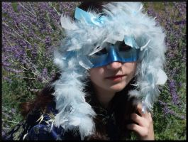 Feathered Masquerade Half Mask by Jedi-With-Wings