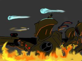 tau fire fight by boringcabage
