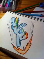 A sonic Rainboom by RainbowCrash33