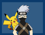 Kakashi and Pikachu Colored by corrosiwatt