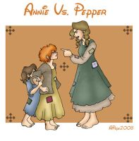 Annie Vs. Pepper by MandiPope