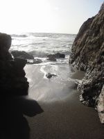 Rockaway Beach cove - 3 by venusflesh