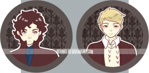 bbc sherlock buttons by resubee