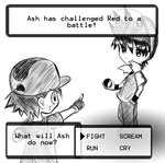 Red vs Ash by Aeveternal
