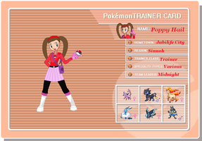 Poppy's Trainer Card by Salamon4Ever