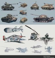 Military Vehicles by taho