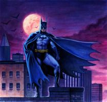 Batman on a Rooftop by Habjan81