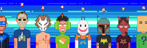 Pixel Zebes and coworkers by ZEBES
