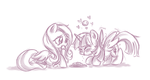 Twi and Flutters eating cookies by MeloDenesa