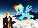 ::+America and Rainbow Dash+:: by Apple-Rings