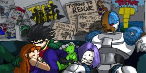 Sleeping Titans by teentitans