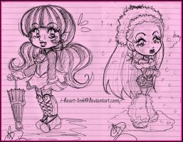 MH: Chibi Notebook Sketches by I-heart-Link