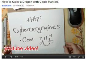 YouTube Video Copic Marker Tutorial by lady-cybercat