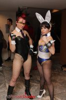 Bunny Crimson Viper and Chun Li by miss-gidget