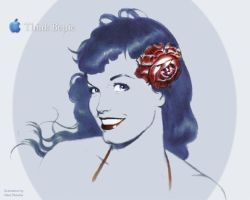 Bettie Page by Dave Stevens by JohnRose-Illustrator