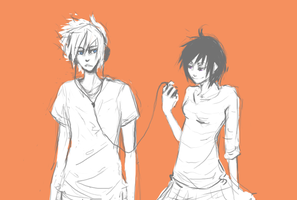 K H - Roxas x Xion by roolph