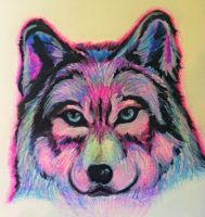 Neon Wolf by sunsixx