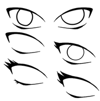 Naruto Style Eye Bases by xCalee