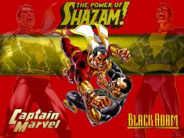 Captain Marvel vs Black Adam by Superman8193
