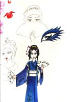 Geisha sketches by Poppin-Blue-Smartie