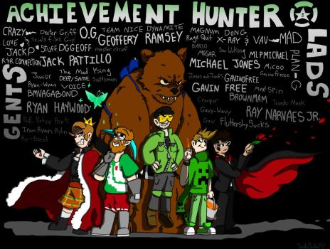The Achievement Hunters by SaintsSister47