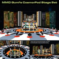 MMD Gumi's Cosmo-Pod Stage Set by Trackdancer
