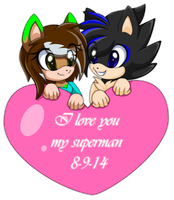 Luv you my superman by xlightbluesnowflakex
