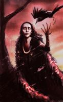 Loki and the Raven by frogsfortea