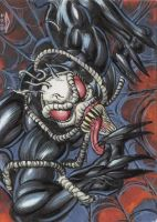 VENOM 2099 PERSONAL SKETCH CARD 2012A by AHochrein2010