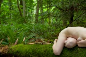 nude study in woods by Manyroomsphotography