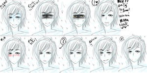 JS VisualNovel - Tria's faces by Naokichu