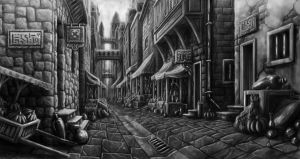 Alley Market by Benjamin-the-Fox
