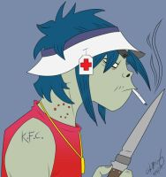2-D from the Gorillaz by Vash-Crowley