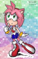 Thoughtful Amy Rose (colors by me) by heitor-jedi