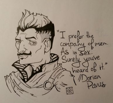 #Inktober 2015 Day 11: Coming Out Day - Dorian Pav by TXS-1089