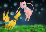 the adventure of mew and pikachu by rayssachan