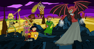 Dungeons and Dragons Battle - Adventure Time Style by woxxx