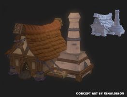 Siege. Baker 1 concept to Low-poly by ryujin2490