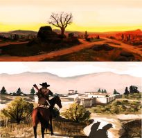 Red Dead Speedpaints by reubelyn