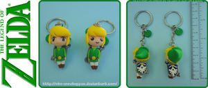 The Legend of Zelda - Chibi Link keychains by Nko-ennekappao