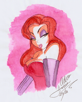 Jessica Rabbit Water Color by PandoraQuinn