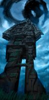 Monument for the Machine Gods by W-E-Z