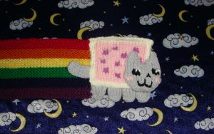 Nyan Cat Scarf - Wallpaper ver by collarander