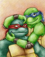 Raph N Leo For Snee-Chan by zims-lost-soul