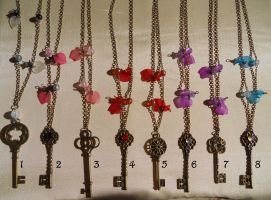 The colors of your heart's key necklace by Elfetta2007
